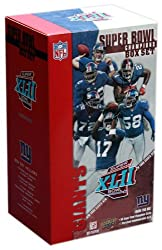 Salute the Super Bowl XLII Champions with Upper Deck's Commemorative Trading Card Box Set. This 50 card set includes 40 regular player cards, five ''Season Highlight'' cards; four ''Super Bowl Memorable Moments'' cards; and one ''Super Bowl MVP'' car...