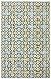 Mohawk Home Aurora Pasadena Aqua Geometric Printed Area Rug, 7'6×10′, Tan