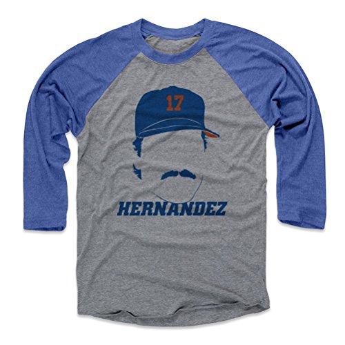 Mets Raglan - 500 LEVEL Keith Hernandez Baseball Tee Shirt (Medium, Royal/Heather Gray) - New York Mets Raglan Tee - Keith Hernandez Silhouette B