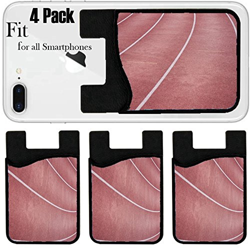 Liili Phone Card holder sleeve/wallet for iPhone Samsung Android and all smartphones with removable microfiber screen cleaner Silicone card Caddy(4 Pack) IMAGE ID: 11101625 laps in the race field