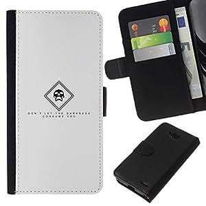 All Phone Most Case / Oferta Especial Cáscara Funda de cuero Monedero Cubierta de proteccion Caso / Wallet Case for LG OPTIMUS L90 // Darkness