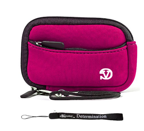 magenta-black-trim-slim-protective-soft-neoprene-cover-carrying-case-sleeve-with-extra-pocket-for-ca