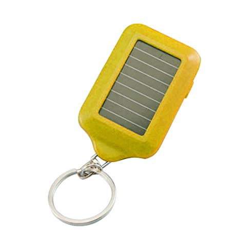 Energía Solar LED Mini Linterna Llavero 3 Luces LED Portátil ...
