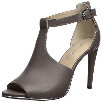 Kenneth Cole New York Women's Brylie Peep Toe T-Strap Dress Sandal Heeled | Heeled Sandals
