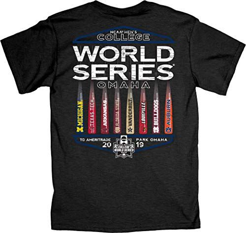 Blue 84 2019 NCAA Men's College World Series CWS 8 Team Best Bats Gray T-Shirt (XL) (Best Shows Of 2019)