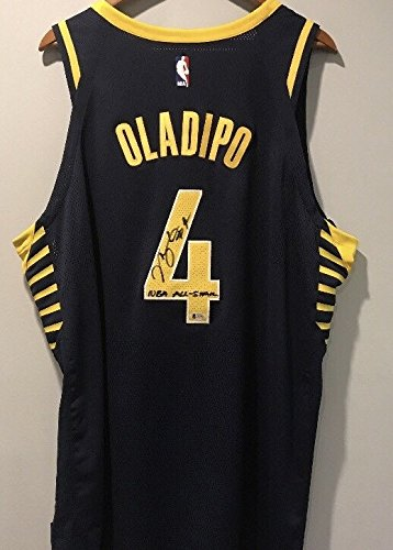 Victor Oladipo Indiana Pacers Signed Inscribed ''NBA ALLSTAR'' Jersey BAS Certified Autographed NBA Jersey by Victor Oladipo