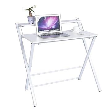 Mesa de escritorio plegable con 2 niveles, estación de trabajo ...