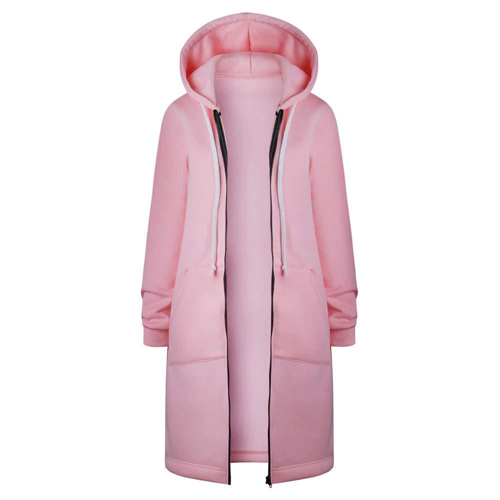 Seaintheson Women's Coats OUTERWEAR レディース B07HRDSQXS XXX-Large|ピンク ピンク XXX-Large