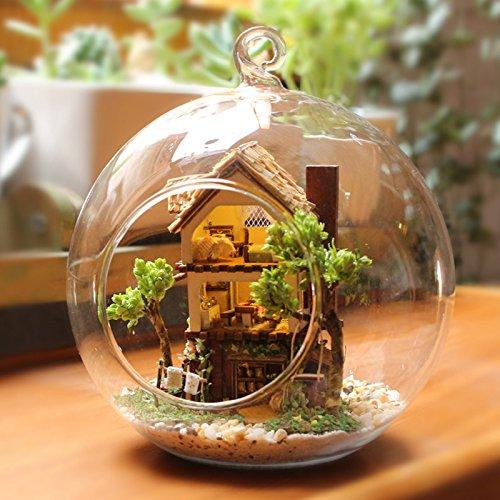 Youku Wooden Handmade Dollhouse Miniature DIY Kit- Glass ball Model  Furniture/Parts (1:24 Scale Dollhouse)