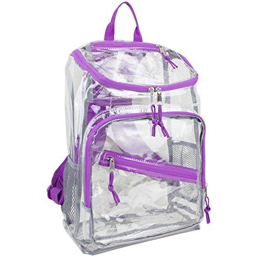 eastsport-girls-clear-top-loader-backpack-grape-one-size