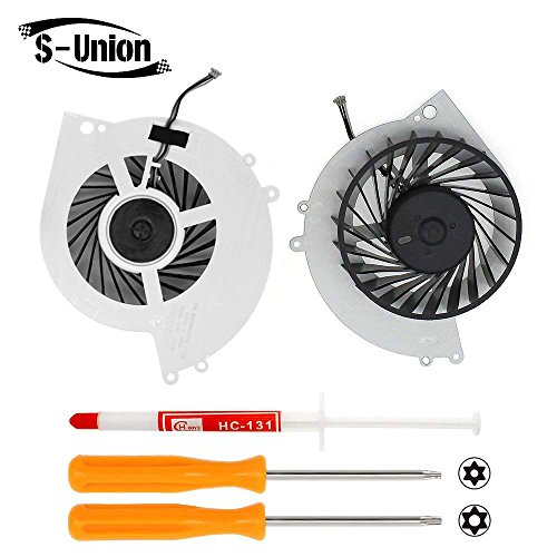 (S-Union New Replacement Internal Cooling Fan for Sony Playstation 4 PS4 CUH-10XXA CUH-11XXA CUH-1115A 500GB KSB0912HE Series (With Screwdrivers T8+T10 and Thermal Grease))