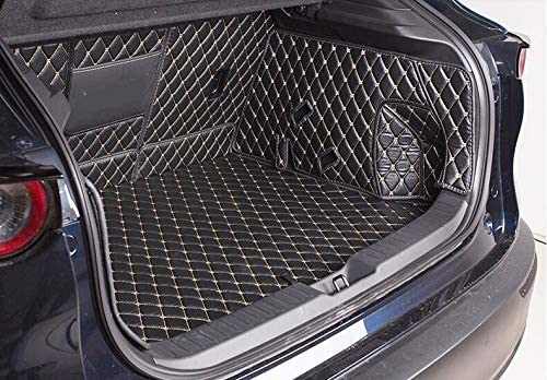 Momoap Car Full encirclement Leather Boot Cargo Liner Tray Rear Trunk Floor Mat for Mazda CX-30 2020-2021