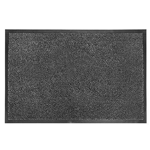 Fasmov Absorbent, Non-Slip Carpet Entrance Mat Indoor Outdoor Entrance Rug Floor Mats Shoe Scraper Doormat, 17.7