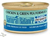 Natural Balance Canned Cat Food, Limited Ingredient Chicken and Green Pea Recipe, 24 x 3 Ounce Pack, My Pet Supplies