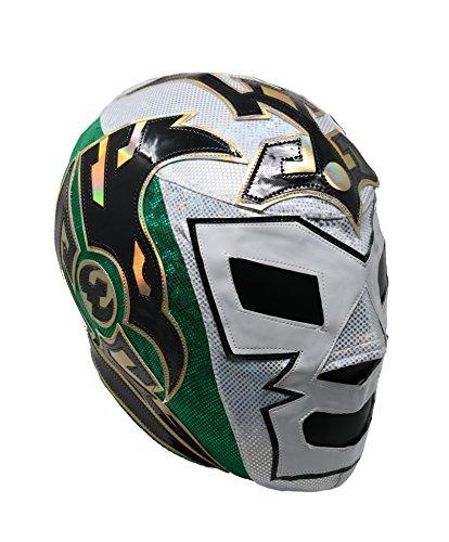 DR Wagner Professional Lucha Libre Wrestling Mask (Premium Quality). Mascara Profesional Varios modelos (Tri White)