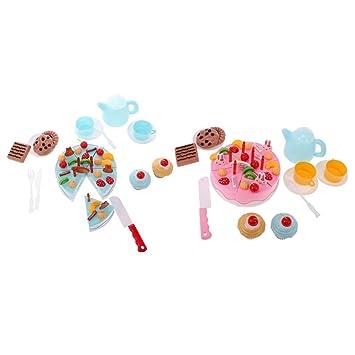 Gazechimp 108 Stuck Plastik Kuchen Schneiden Spielzeug 2 Set 2