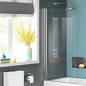 1000mm modern pivot bath shower glass screen reversible for 1000mm pivot shower door