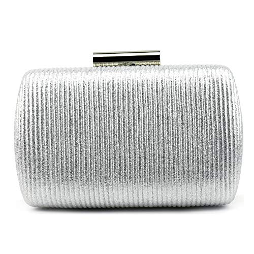Ruiatoo Silver Clutch for Women Luxury Evening Handbag For Cocktail/Wedding/Party