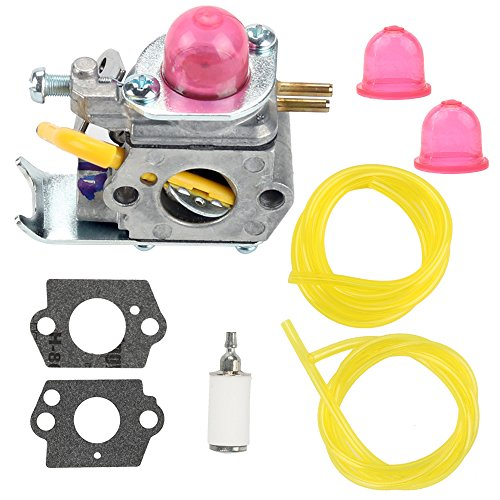 530071752 Carburetor with Fuel Filter Line for C1U-W18 Poulan FL20 FL20C FL25C FL26 FX26S FX26SC FX265 XT260 SST25 SST25C Craftsman Weedeater Featherlite Trimmer 530071822