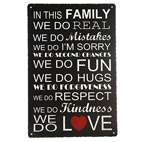 DL-IN THIS FAMILY WE DO Tin Sign Bar pub home House Cafe Wall Decor Retro Metal Art sticker Poster