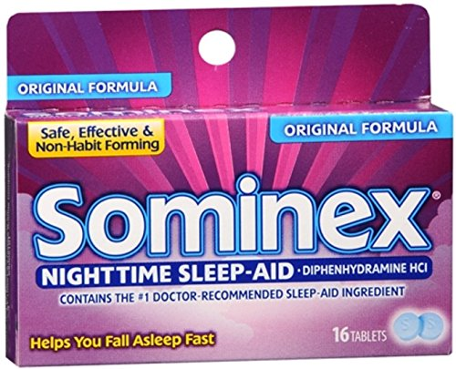 Sominex Original Formula Tablets 16 Tablets (Pack of 6)