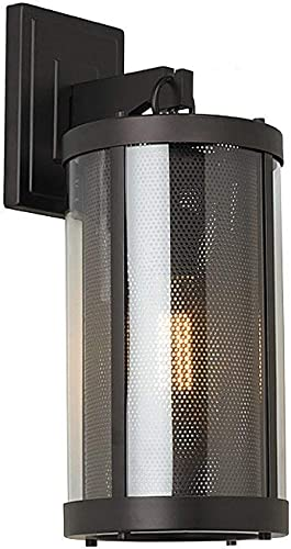 Feiss OL12001ORB Bluffton Outdoor Lighting Wall Pocket Sconce, Bronze, 1-Light 7 W x 19 H 100watts