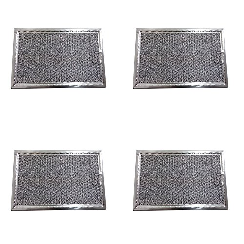 4 pcs Grease Hood Vent Microwave Filter PS466987 5 7/8'' x 7 7/8'' x 3/32'' by Grease Hood Vent Microwave Filter (Image #1)