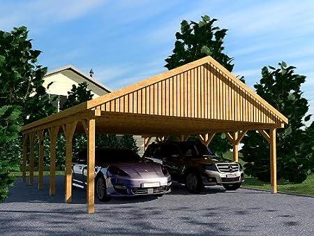 CarPort tejado Monte Carlo VI 600 x 900 cm Kvh de madera tejado CarPort: Amazon.es: Coche y moto