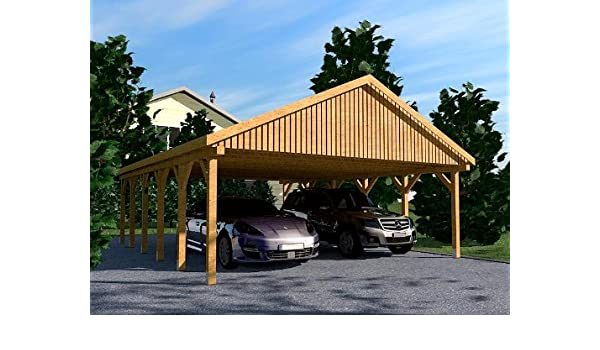 CarPort tejado Monte Carlo VI 600 x 900 cm Kvh de madera tejado ...