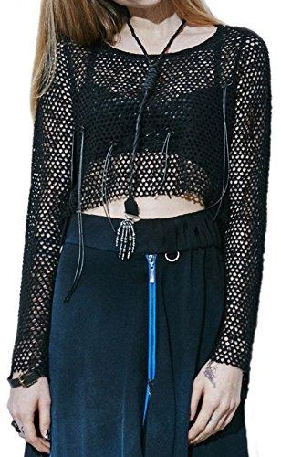 NetzShirt Tunika Pulli Pullover Bluse Top Punk Rave Gothic Kera Visual Kei