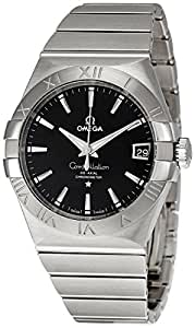 Omega Constellation Co-Axial Stainless Steel Automatic Mens Watch Black Dial Date 123.10.38.21.01.001