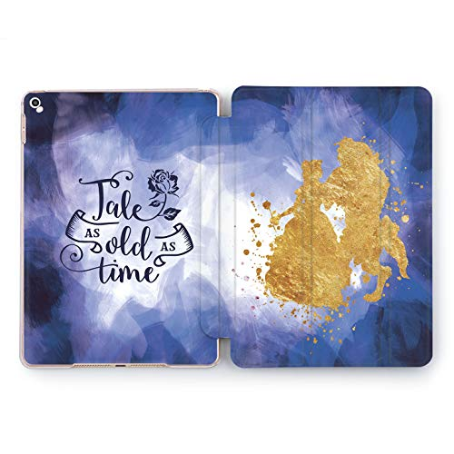 Wonder Wild Beauty and Beast Case iPad Mini 1 2 3 4 Air 2 Tablet 5th 6th Generation Pro 10.5 12.9 2018 2017 9.7 inch Cartoon Princess Character Tale As Old As Time Rose Gold Design Walt Disney ()