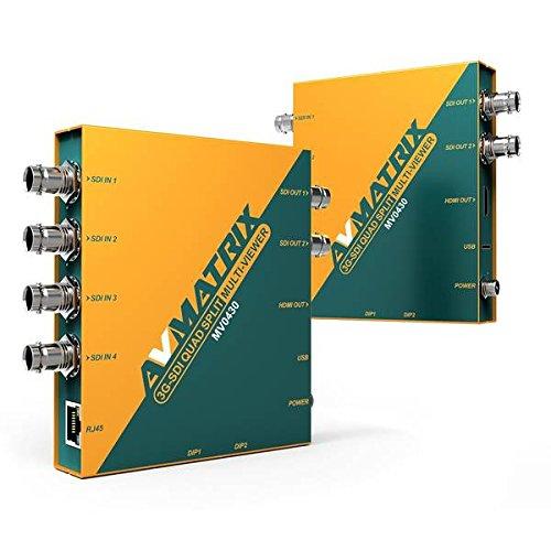 Sdi Amplifier (AVMATRIX MV0430 3G-SDI Quad Spilt Multiviewer with SDI & HDMI output, 3G-SDI to HDMI signal converter, 1×2 SDI distribution amplifier w/SD/HDMI output,4x1 3G-SDI switcher with SDI & HDMI output.)