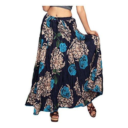 Blue Print Light Handicrfats Skirt A Women's Indian line Carrel Export Floral wzpqFI
