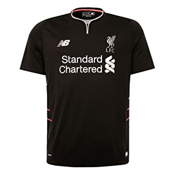 the latest 16837 31e13 New Balance Liverpool FC 2016/17 Short Sleeve Away Jersey - Youth - Black -