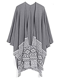 Coofandy Men's Hip Hop African Patterns Shawl Wrap Long Poncho Cape Cardigans
