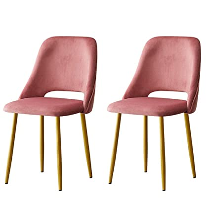 Amazon.com - LHHL Set of 2 Modern Iron Chairs Velvet Soft ...