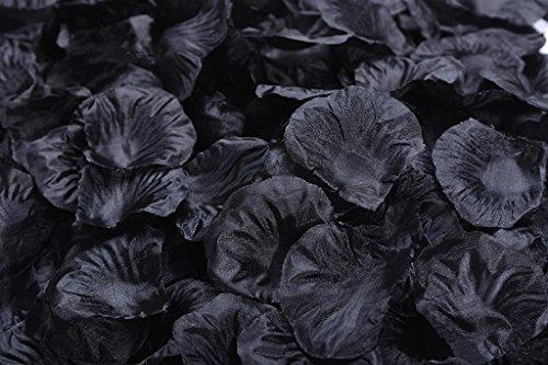 Lorraine Wedding Table Decoration Silk Rose Petals Flowers Confetti (4000, Pure Black)