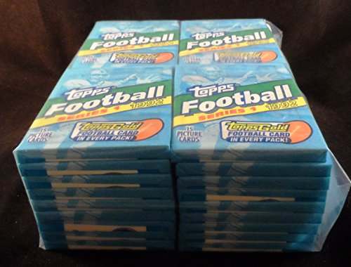 (1992 Topps Series 1 Football 36 Packs - Box Equivalent - Factory-Sealed)