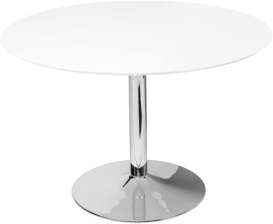 Plata Import Gubi Dining Table 32 with Chrome Base