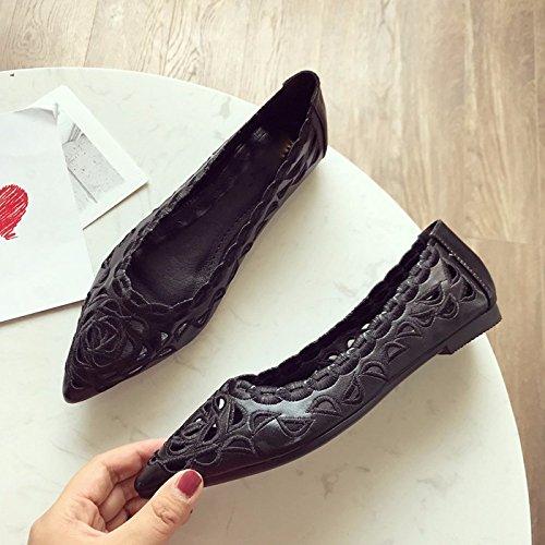 KPHY Damenschuhe Sommer-Mode-Ausgehöhlt Flache Flache Flache Spitze Komfortable Wohnung Zusammenbrach Damenschuhe Die Schuhe. 9230cb