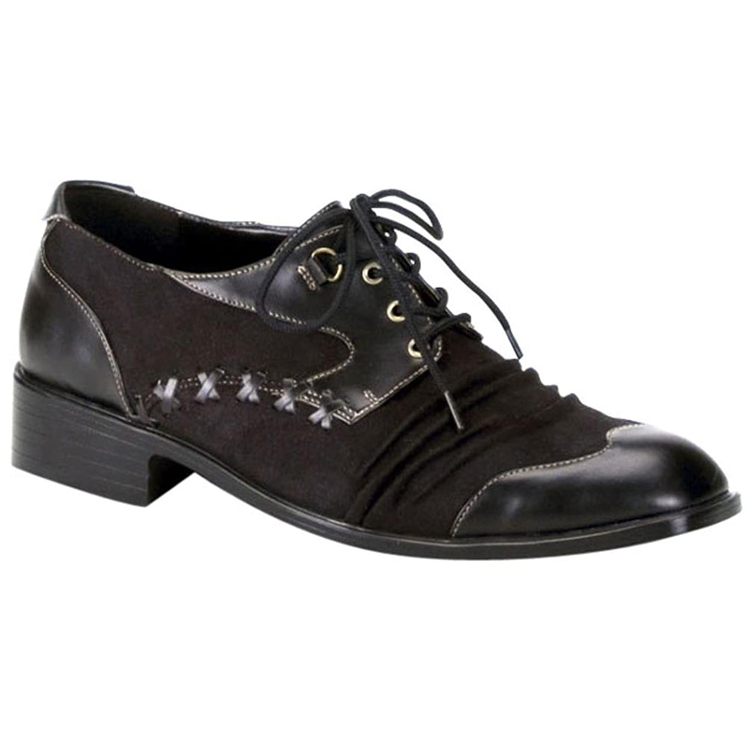 Adult Black Mad Hatter Oxford Costume Shoes - DeluxeAdultCostumes.com