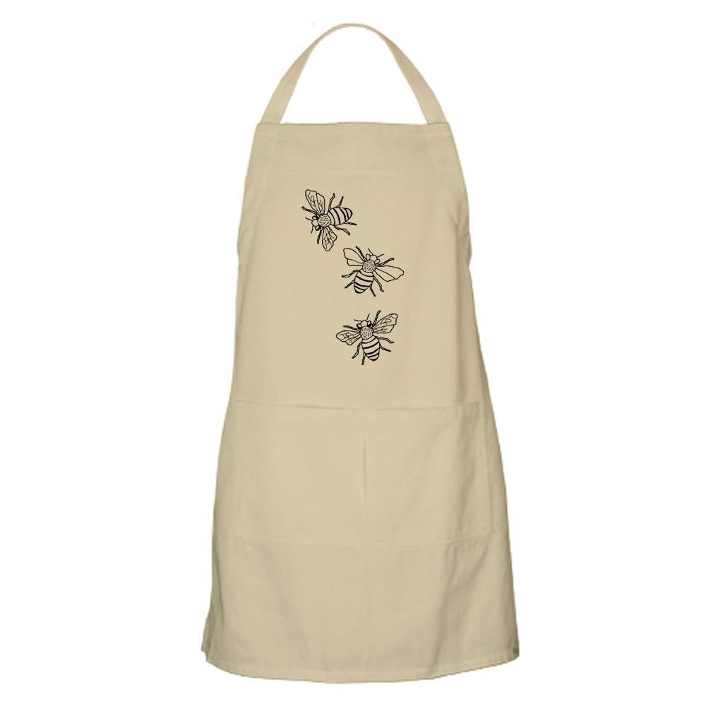 CafePress - Honey Bees Apron - Kitchen Apron with Pockets