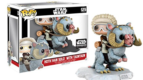 Star Wars: Smuggler's Bounty - Hoth Han Solo with Tauntaun Funko Pop! Vinyl Bobble-Head Figure (Includes Plush Wampa)
