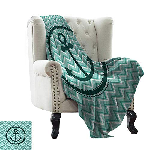 Super Soft Blankets Horizontal Zig Zag Pattern Background Anchor Image Circle Shape Medallion Fall Winter Spring Living Room 60