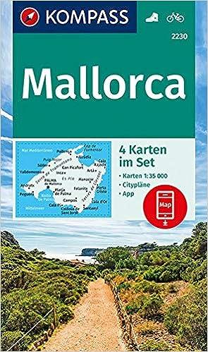 Kompass Wanderkarte Mallorca 4 Wanderkarten 1 35000 Im Set