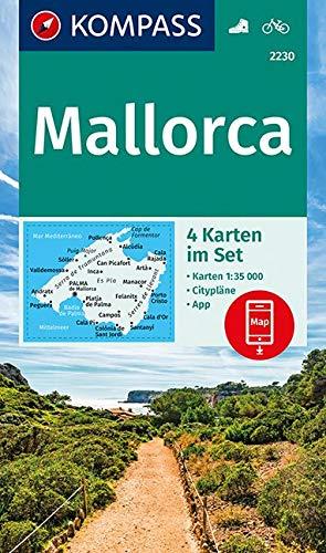 KOMPASS Wanderkarte Mallorca  4 Wanderkarten 1 35000 Im Set Inklusive Karte Zur Offline Verwendung In Der KOMPASS App. Fahrradfahren.  KOMPASS Wanderkarten Band 2230