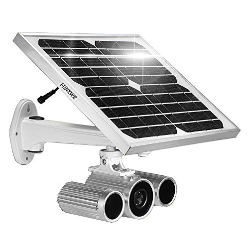([2019 Updated] Solar Power Battery Powered 1080P WiFi Security IP Camera with Starlight Night Vision 260ft, P2P Peer-to-Peer Wireless, Enlarged Li-ion Battery Built-in 16G SD Card)