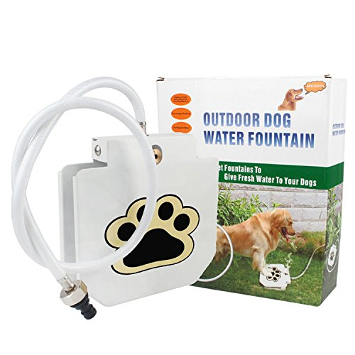 GouGou Automatic Dogs Fresh Water Fountains Outdoor Step-on Drinking Training Tool for Dog Watering Supplies