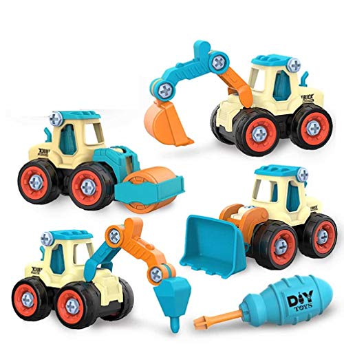 4 in 1 Construction Vehicles